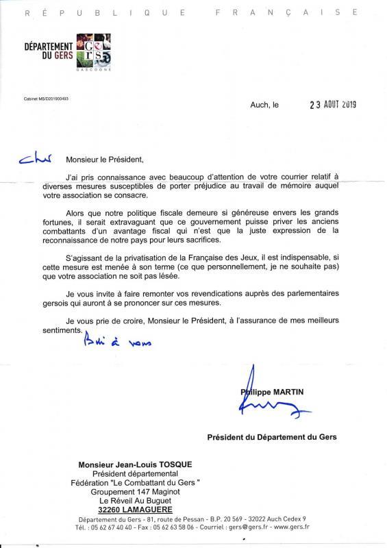 Lettre president conseil departemental